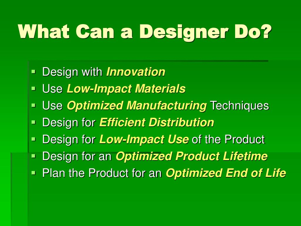 What Can a Designer Do?