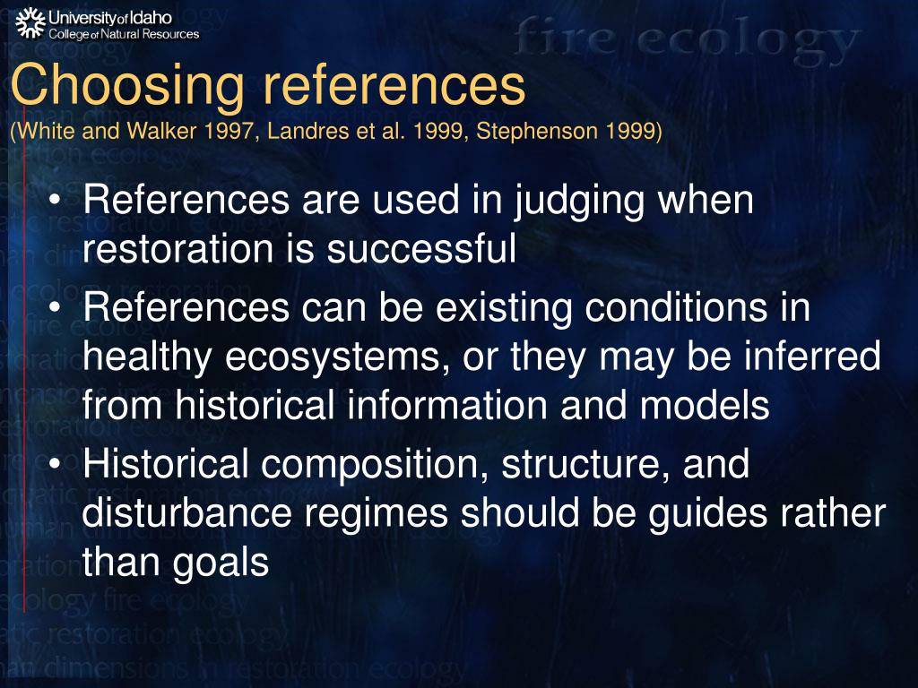Choosing references