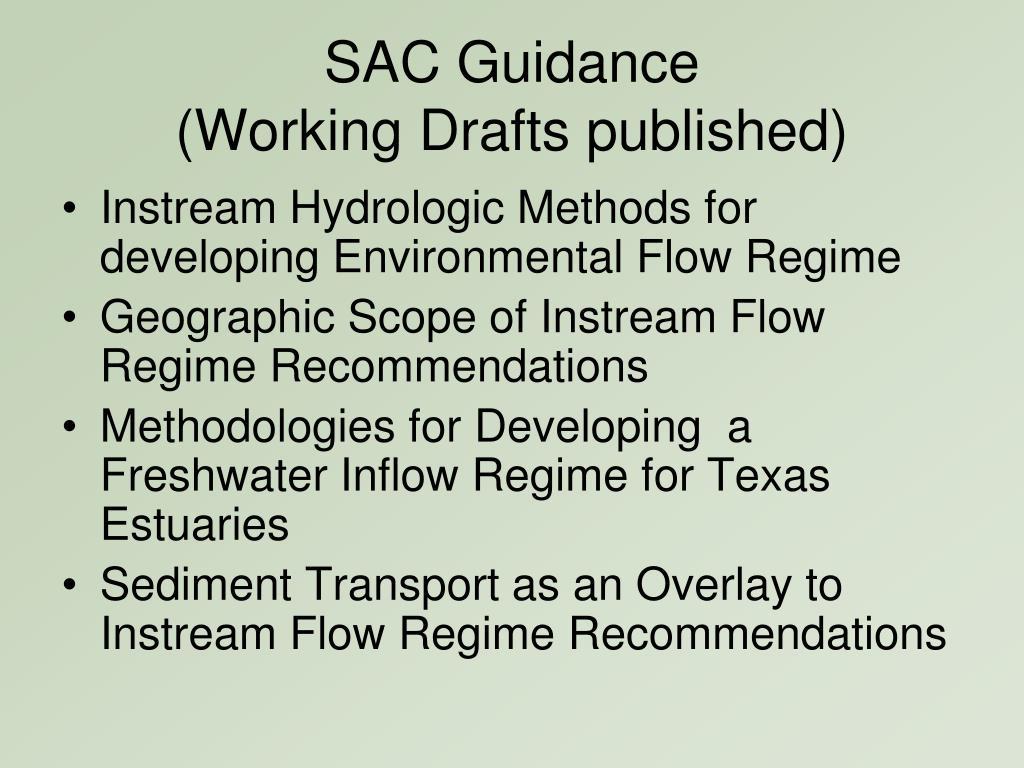 SAC Guidance