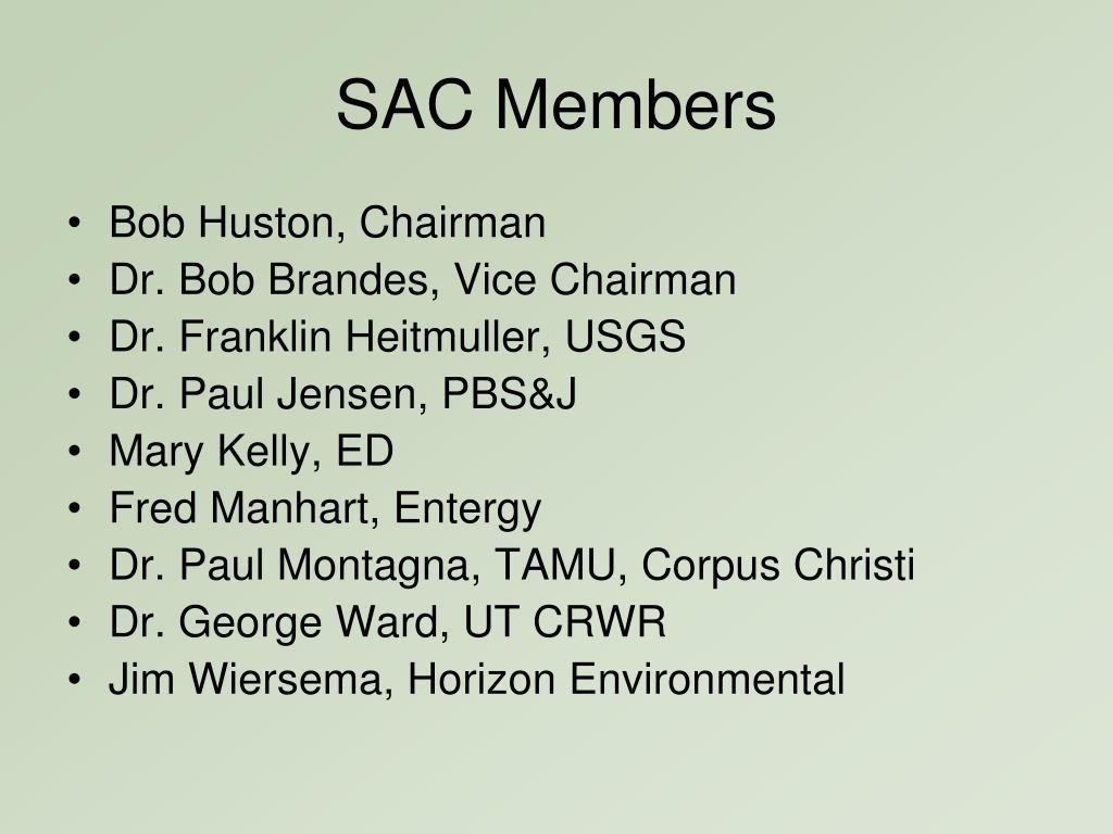 SAC Members