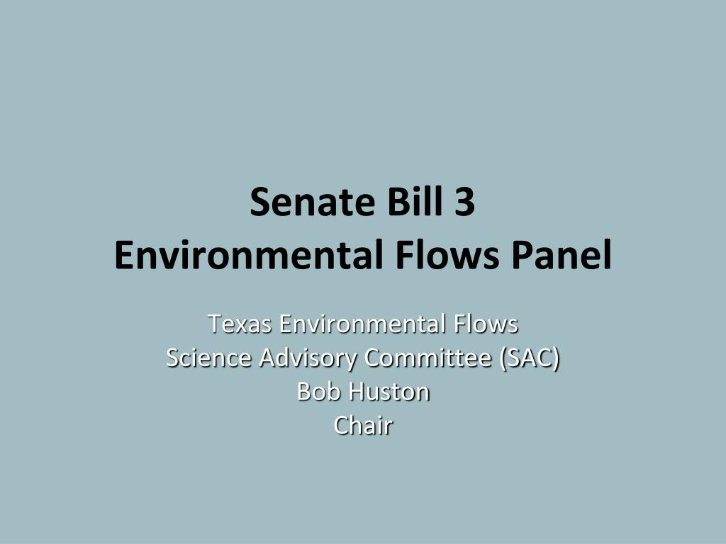 Senate Bill 3