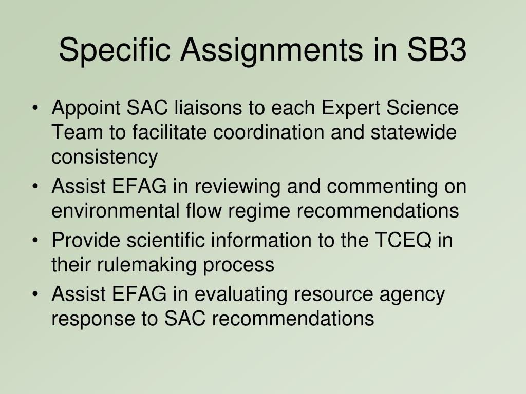Specific Assignments in SB3