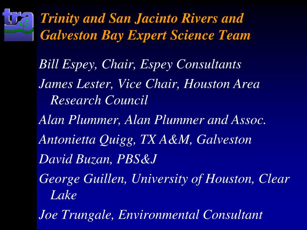 Trinity and San Jacinto Rivers and