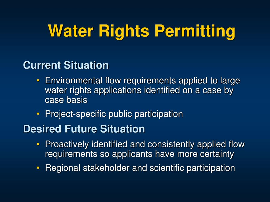Water Rights Permitting