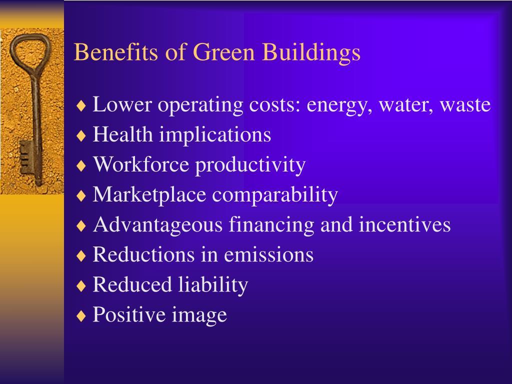 Benefits of Green Buildings