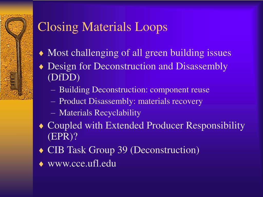 Closing Materials Loops