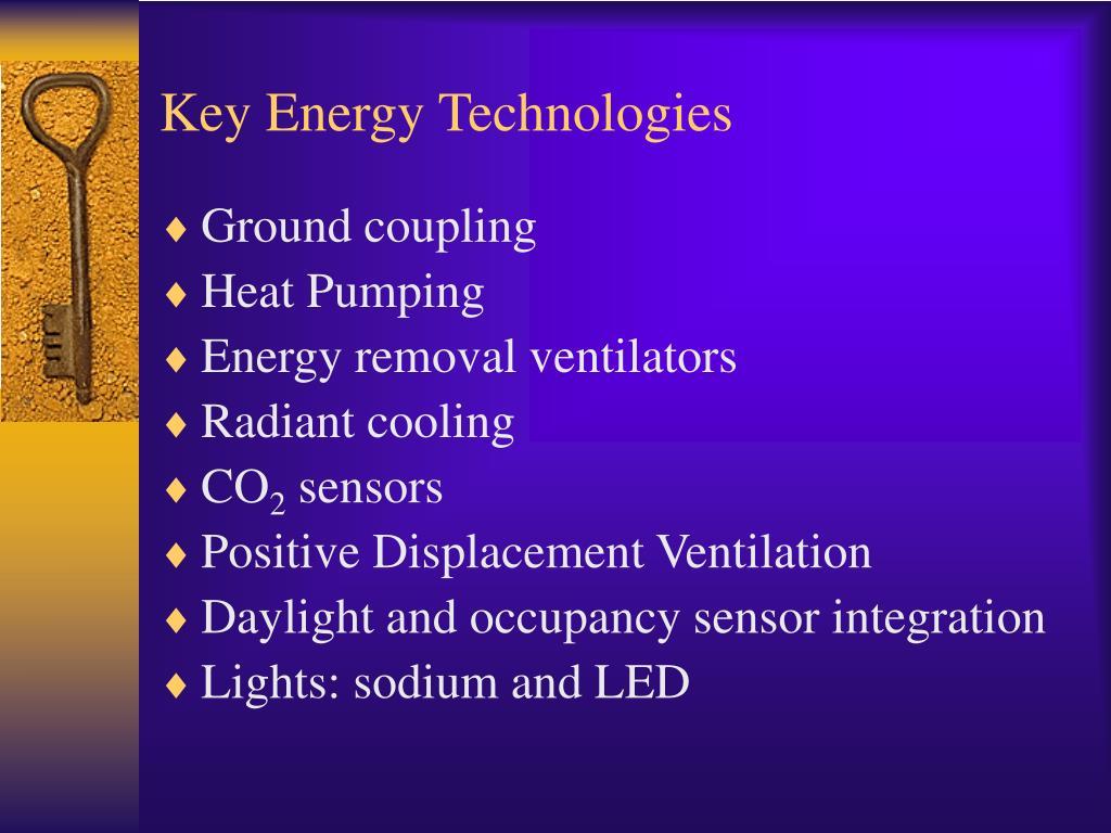 Key Energy Technologies