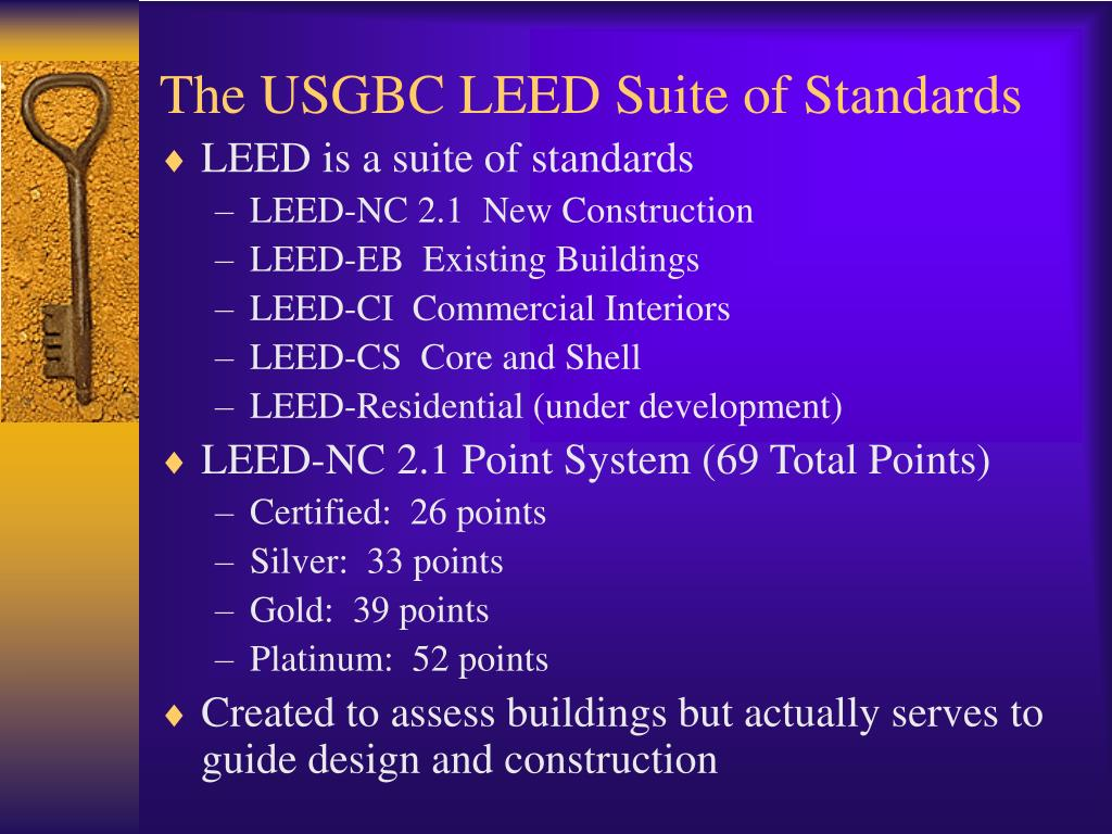 The USGBC LEED Suite of Standards