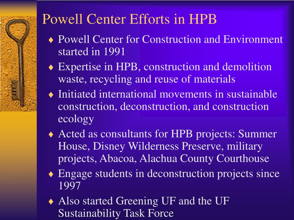 Powell Center Efforts in HPB
