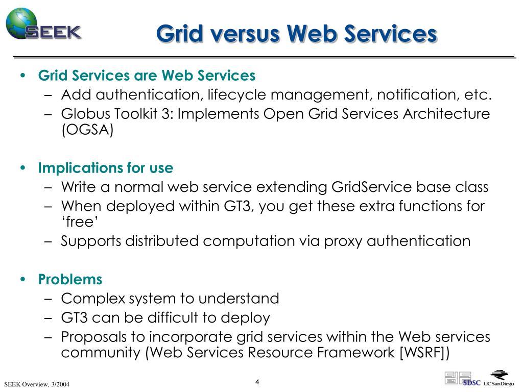 Grid versus Web Services