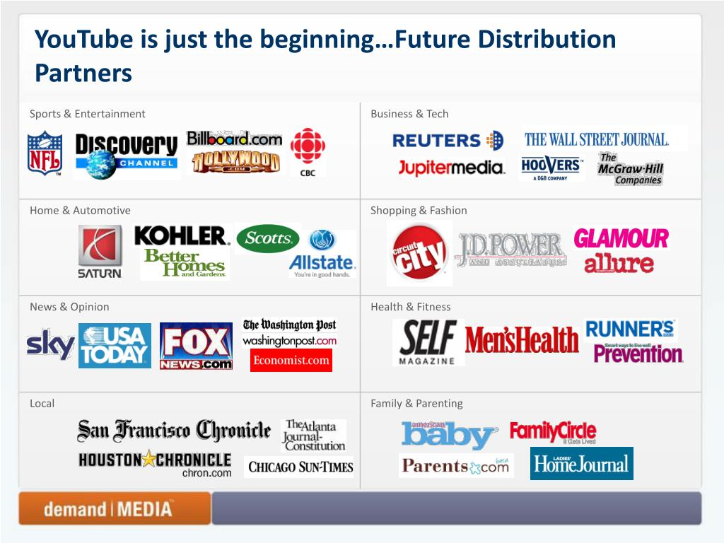 YouTube is just the beginning…Future Distribution Partners