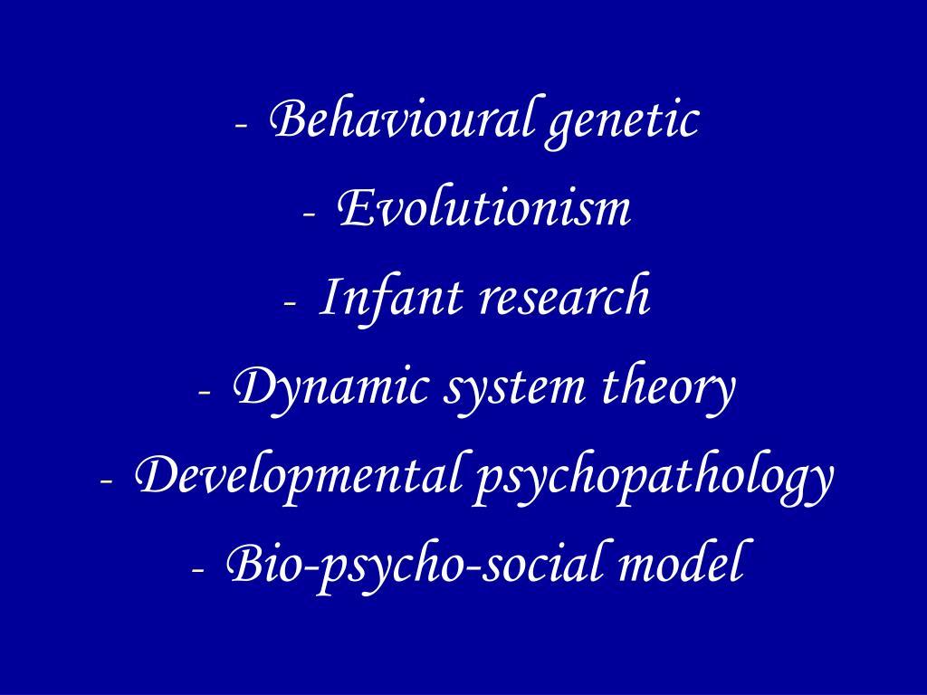 Behavioural genetic