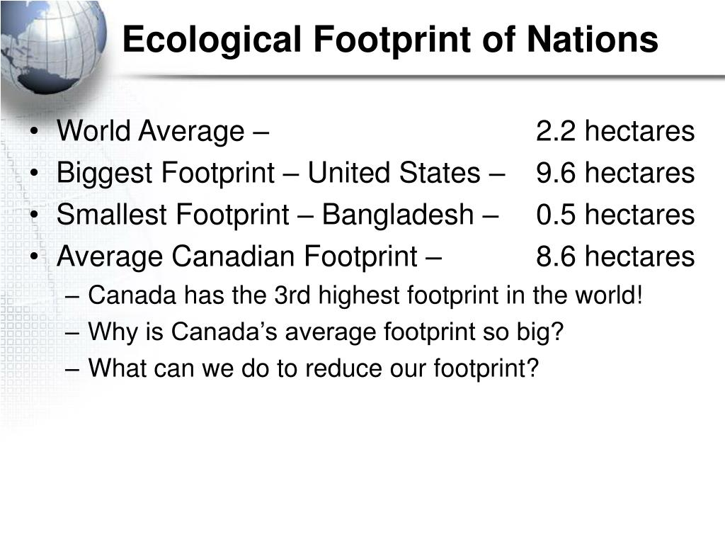 Ecological Footprint of Nations