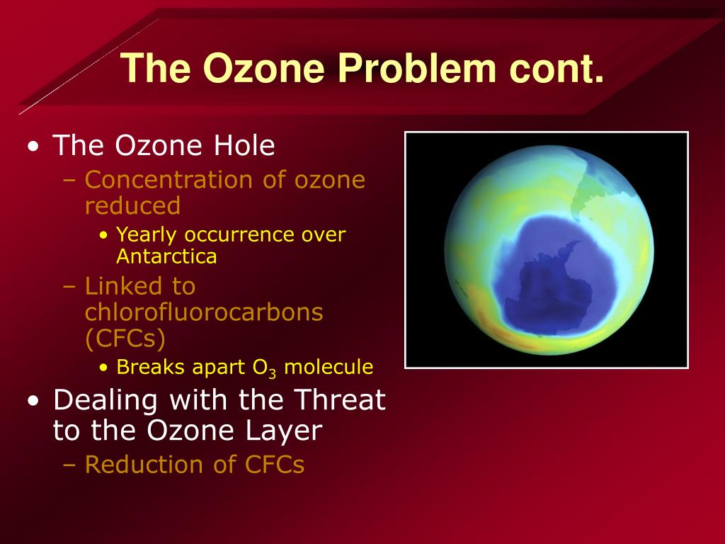The Ozone Problem cont.