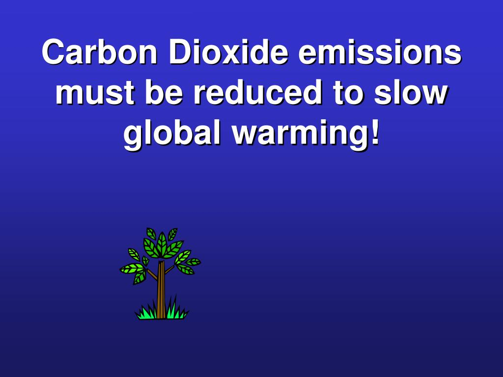 Carbon Dioxide emissions must be reduced to slow global warming!