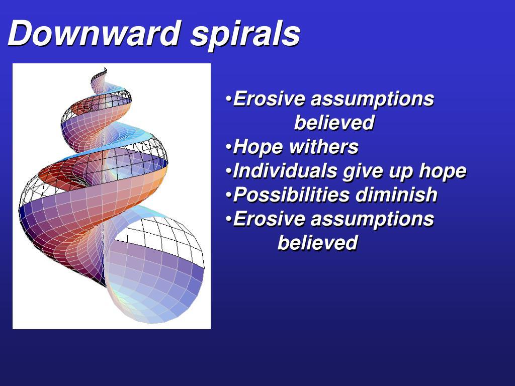 Downward spirals