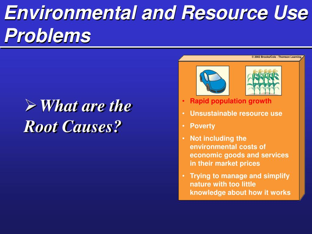 Environmental and Resource Use Problems