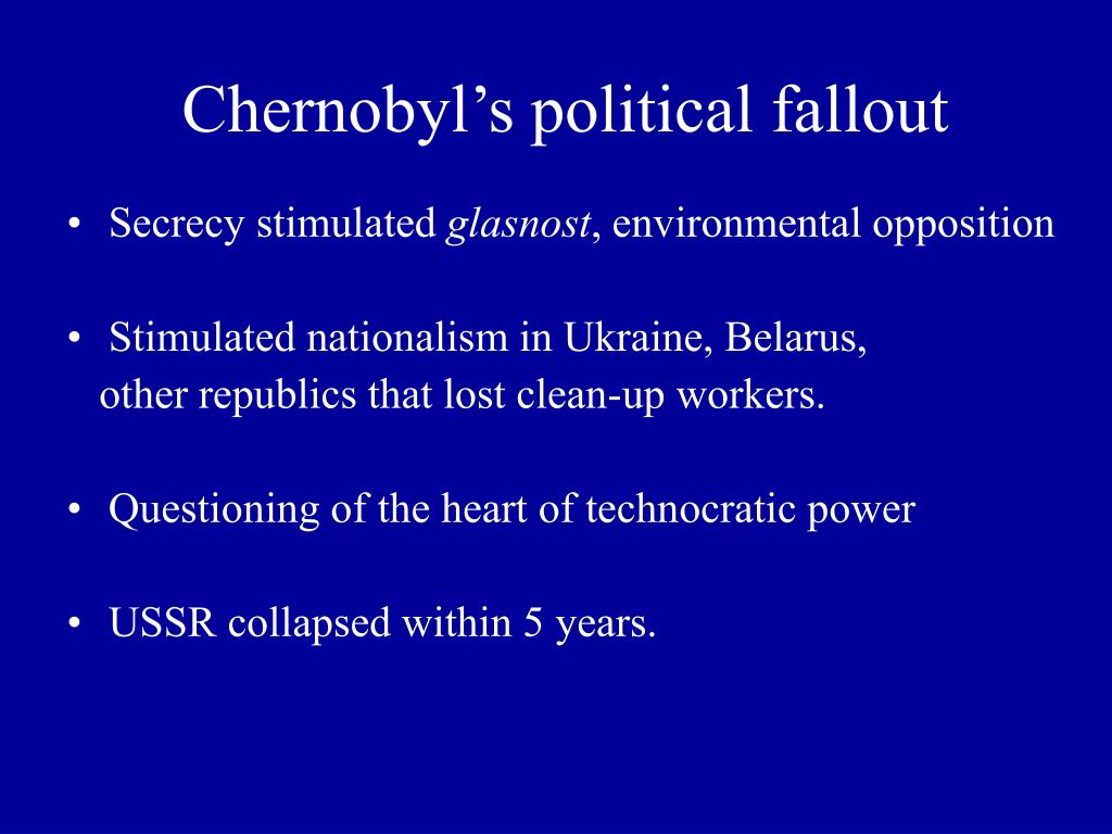 Chernobyl's political fallout