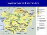 environment in central asia