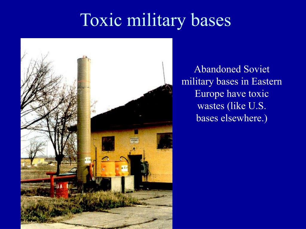 Toxic military bases