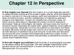 chapter 12 in perspective