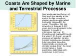 coasts are shaped by marine and terrestrial processes
