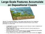 large scale features accumulate on depositional coasts