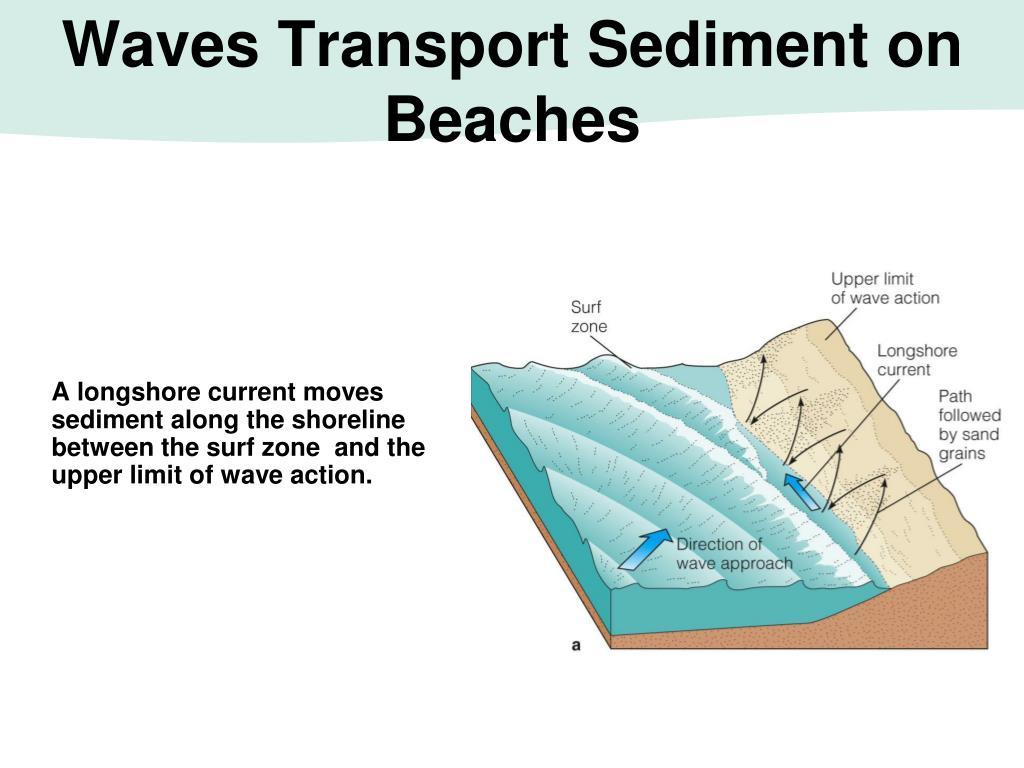 Waves Transport Sediment on Beaches