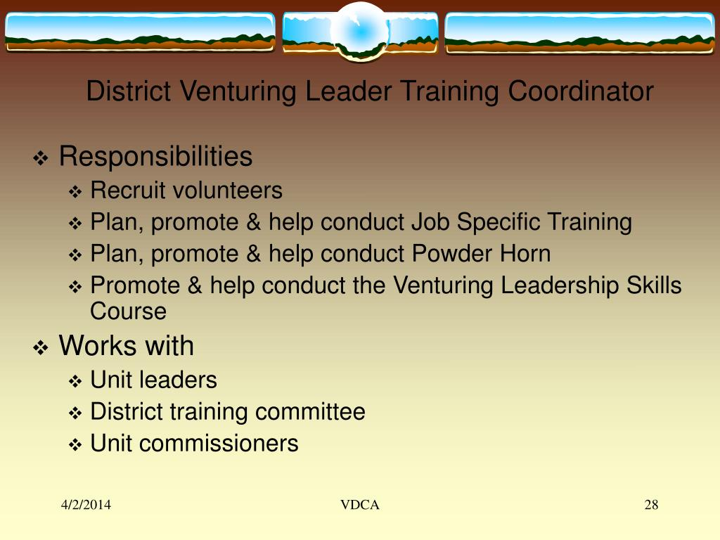 District Venturing Leader Training Coordinator