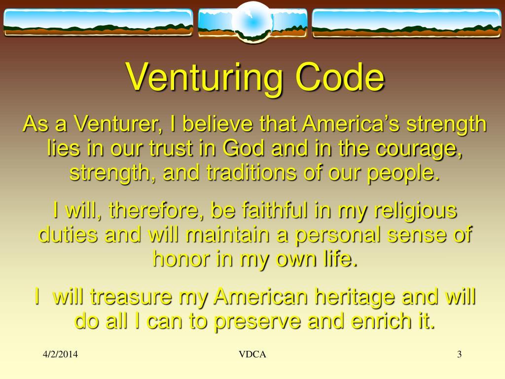 Venturing Code