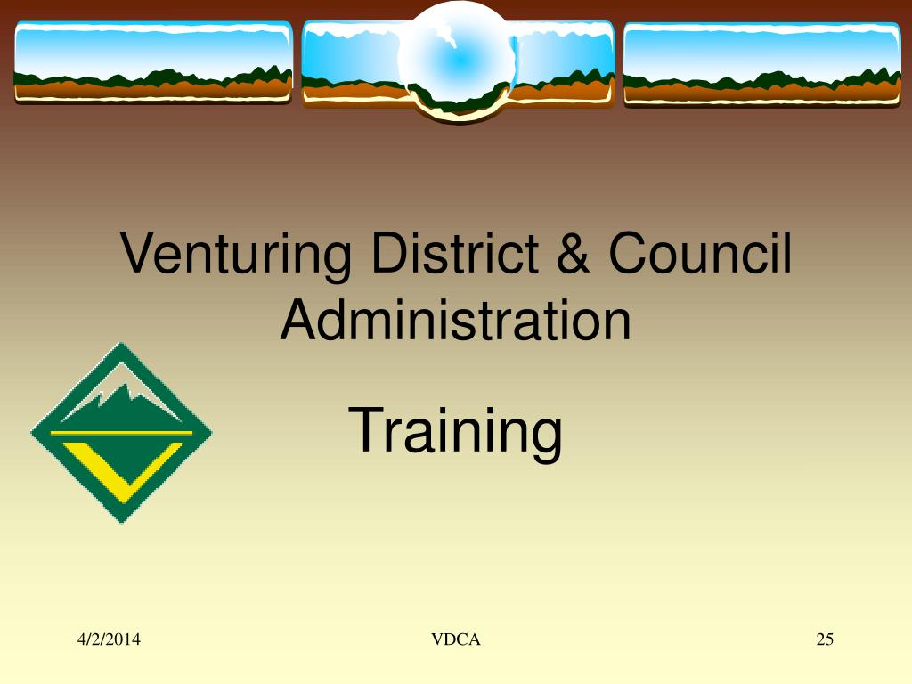 Venturing District & Council Administration