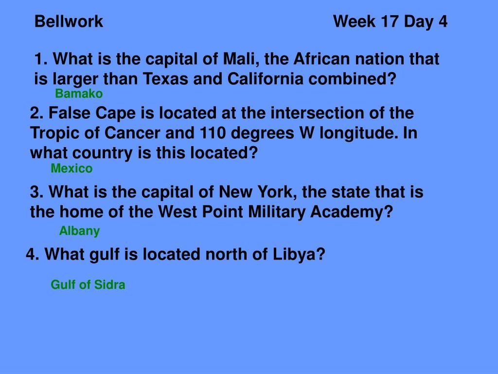 BellworkWeek 17 Day 4
