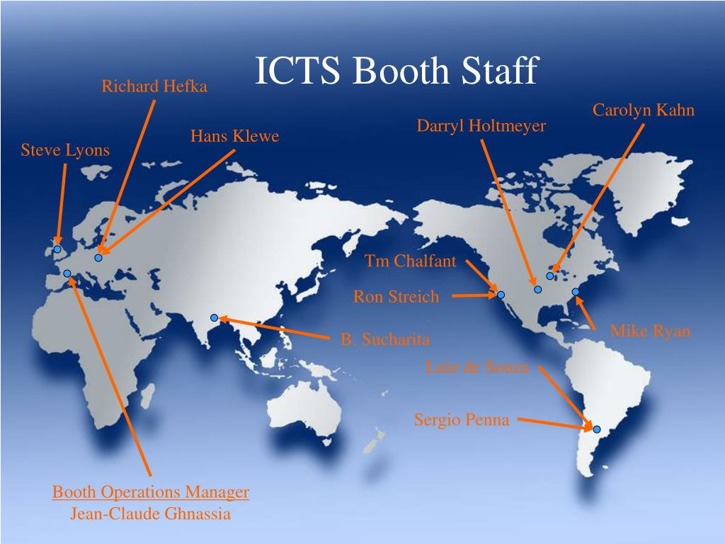 ICTS Booth Staff