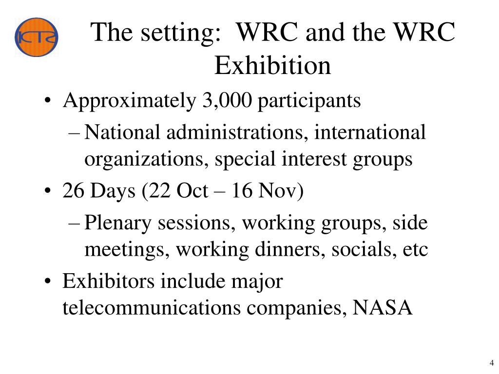 The setting:  WRC and the WRC Exhibition