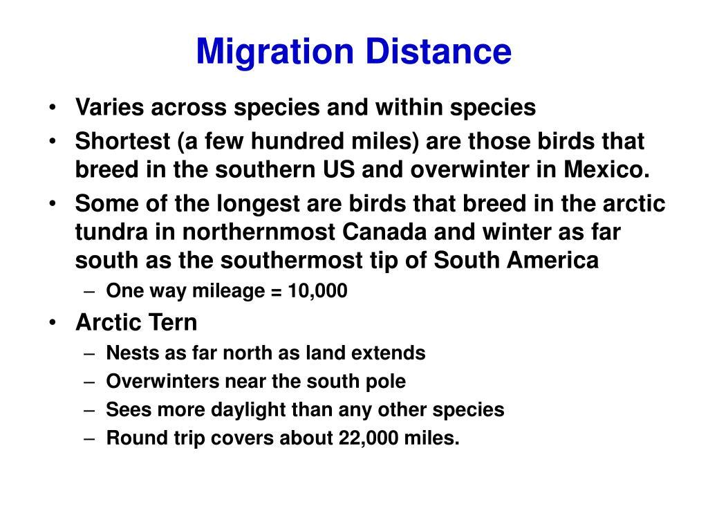 Migration Distance