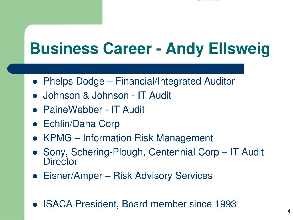 Business Career - Andy Ellsweig