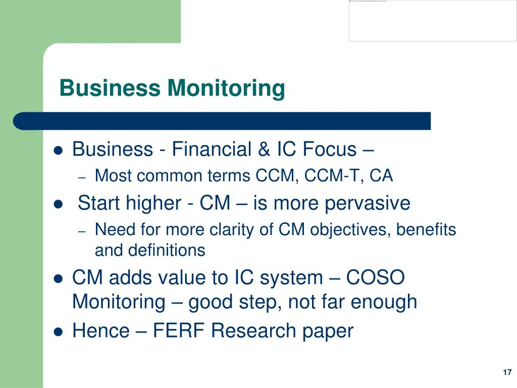 Business Monitoring