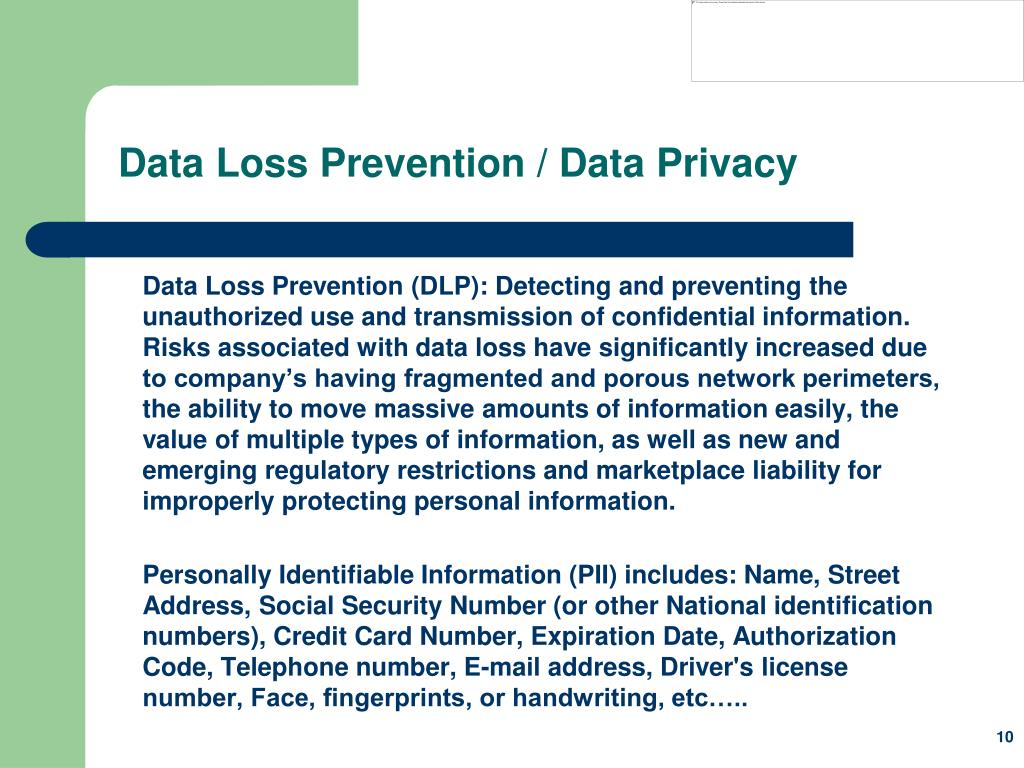 Data Loss Prevention / Data Privacy