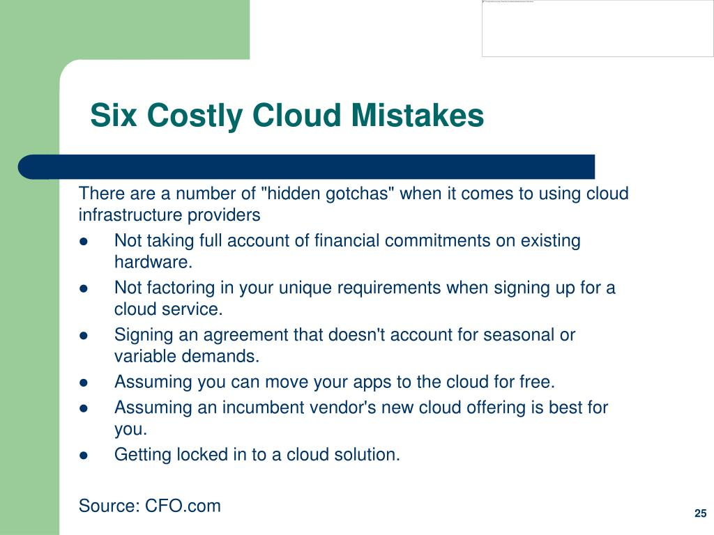 Six Costly Cloud Mistakes