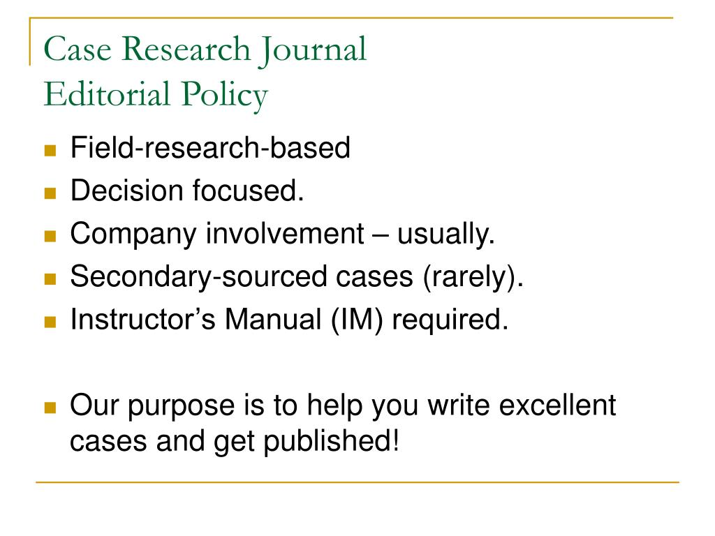 Case Research Journal
