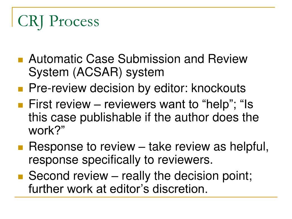 CRJ Process