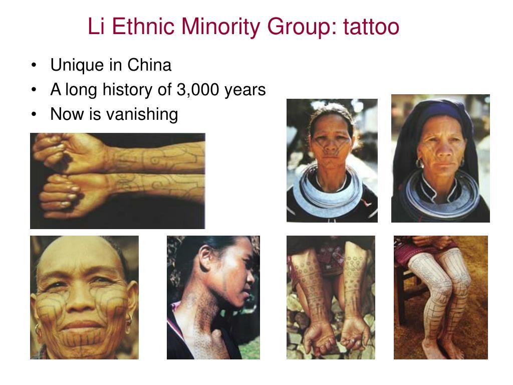 Li Ethnic Minority Group: tattoo