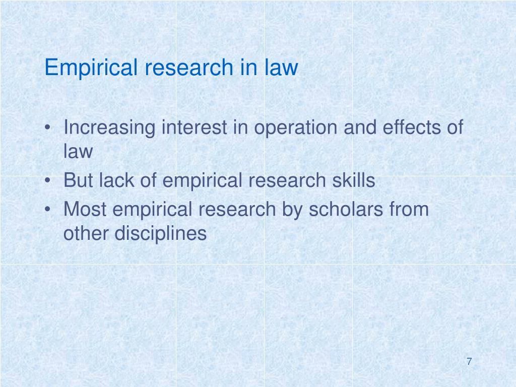 Empirical research in law