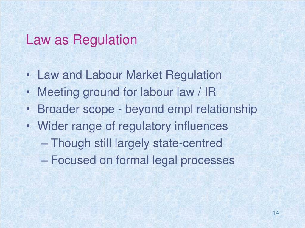 Law as Regulation