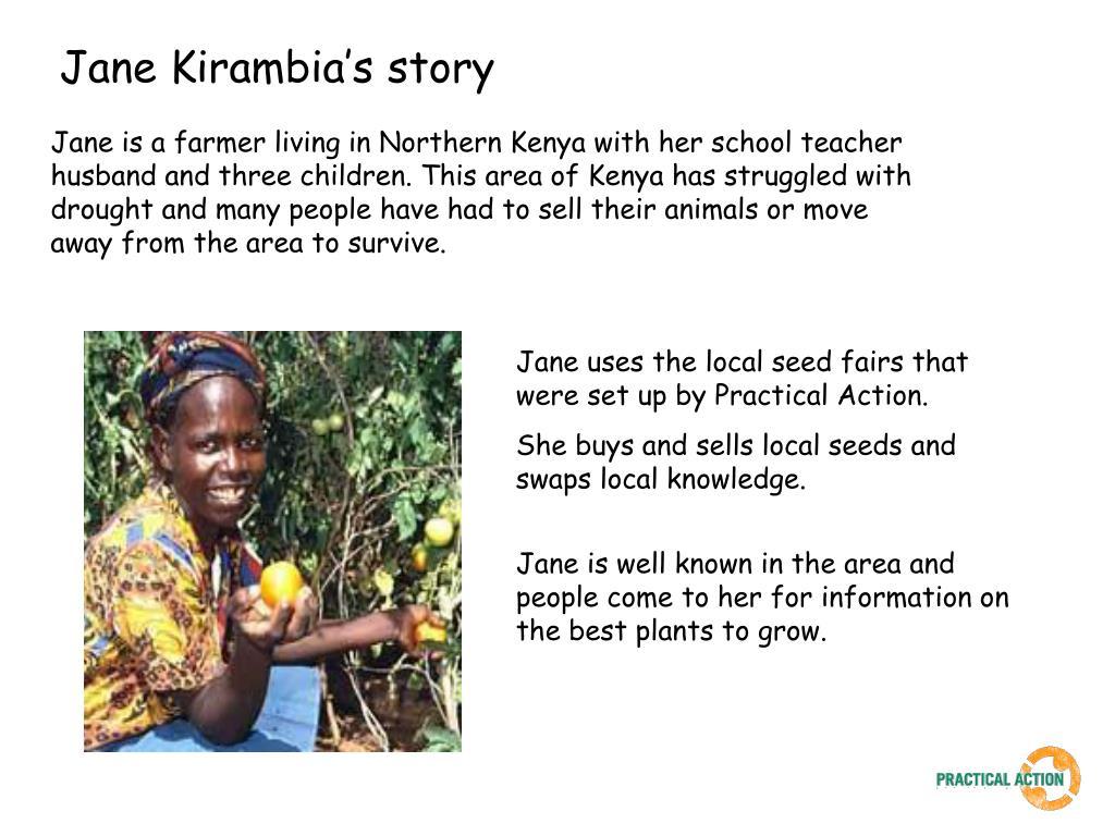Jane Kirambia's story