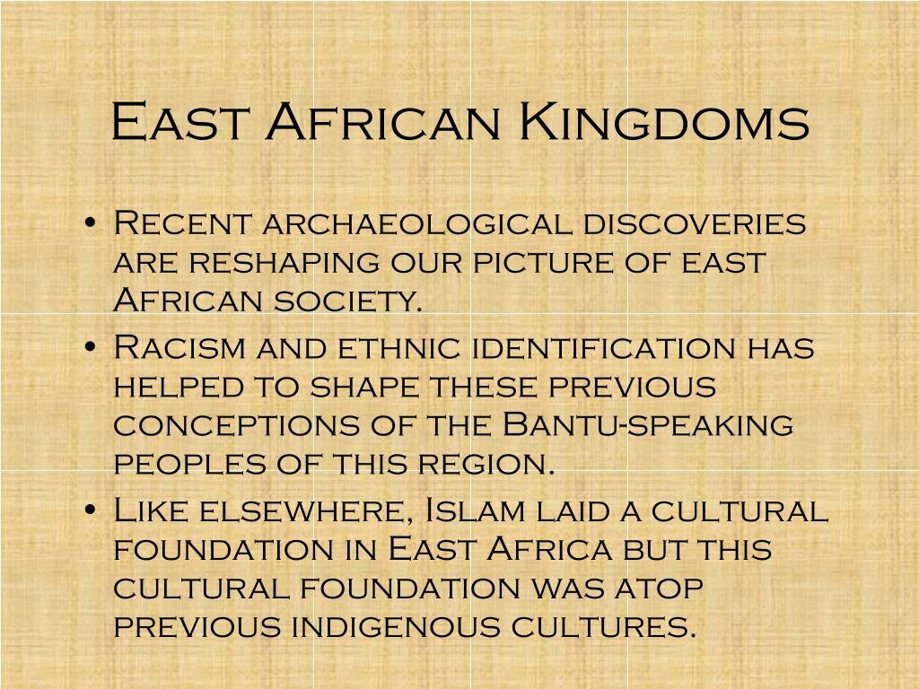 East African Kingdoms
