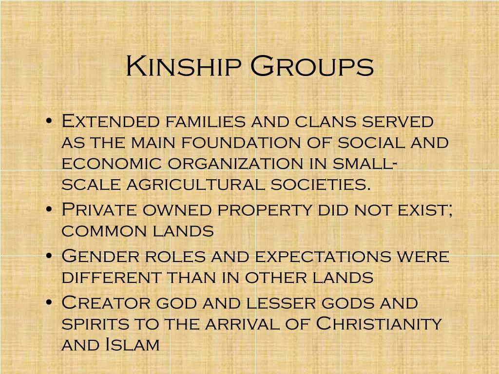 Kinship Groups