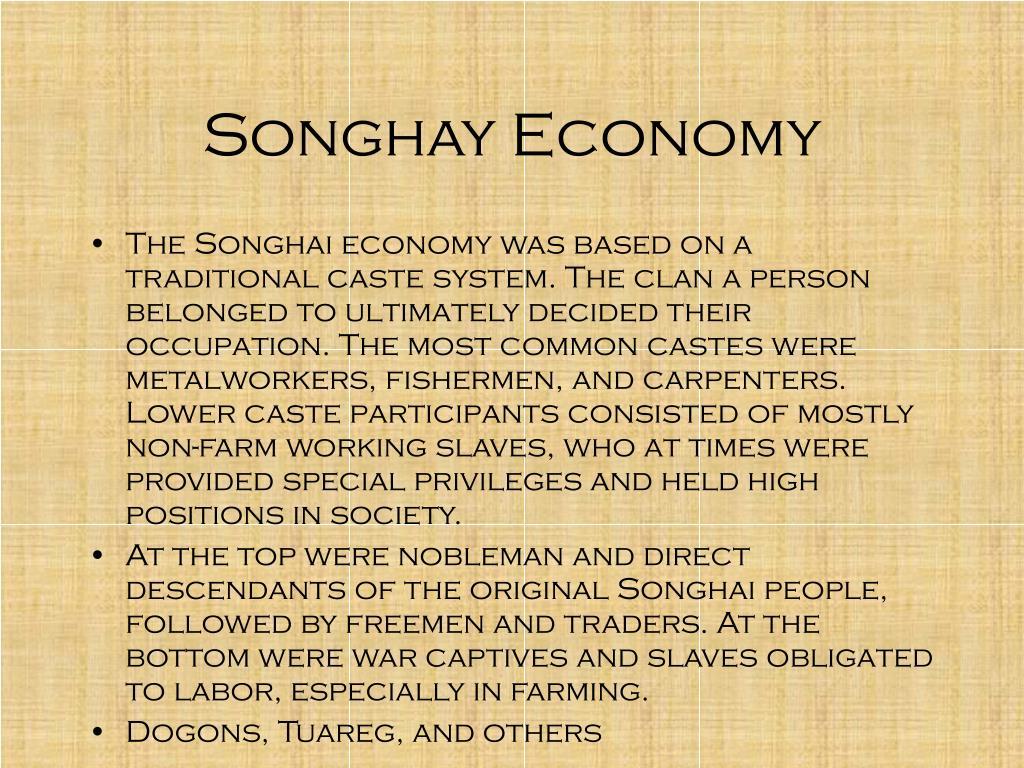 Songhay Economy