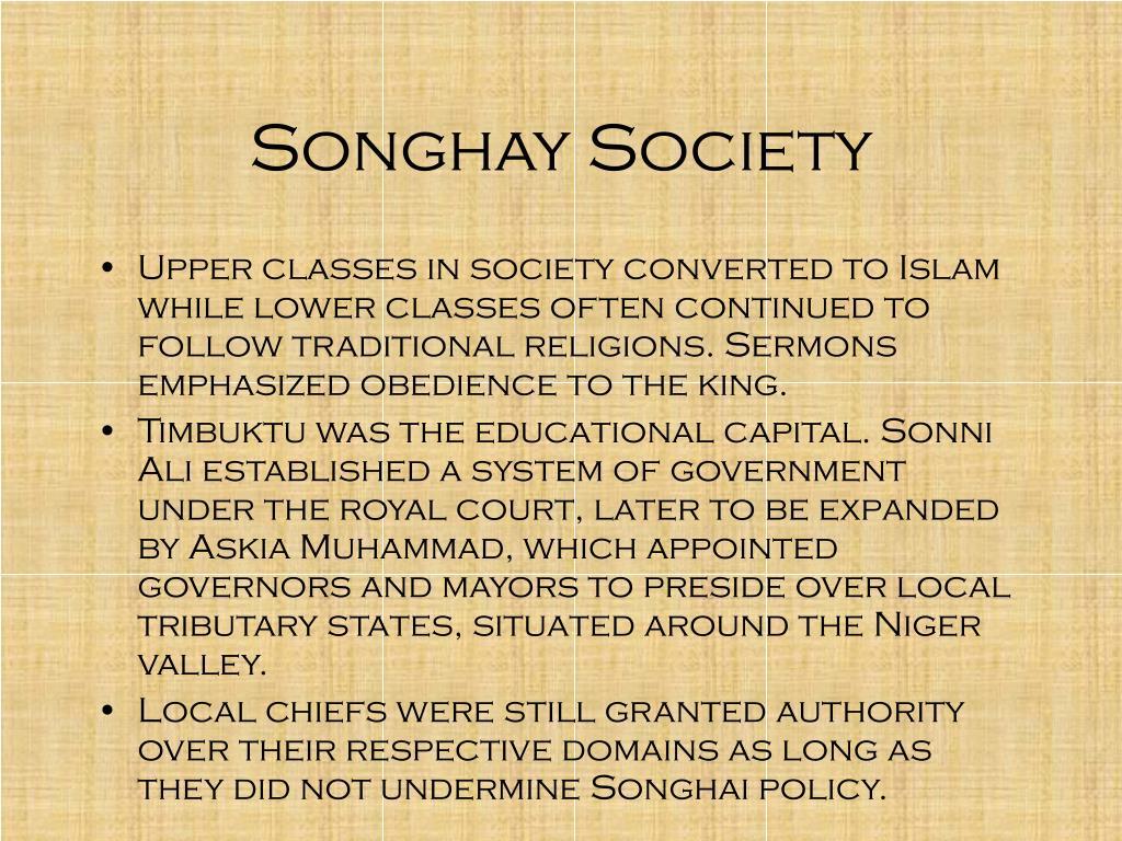 Songhay Society