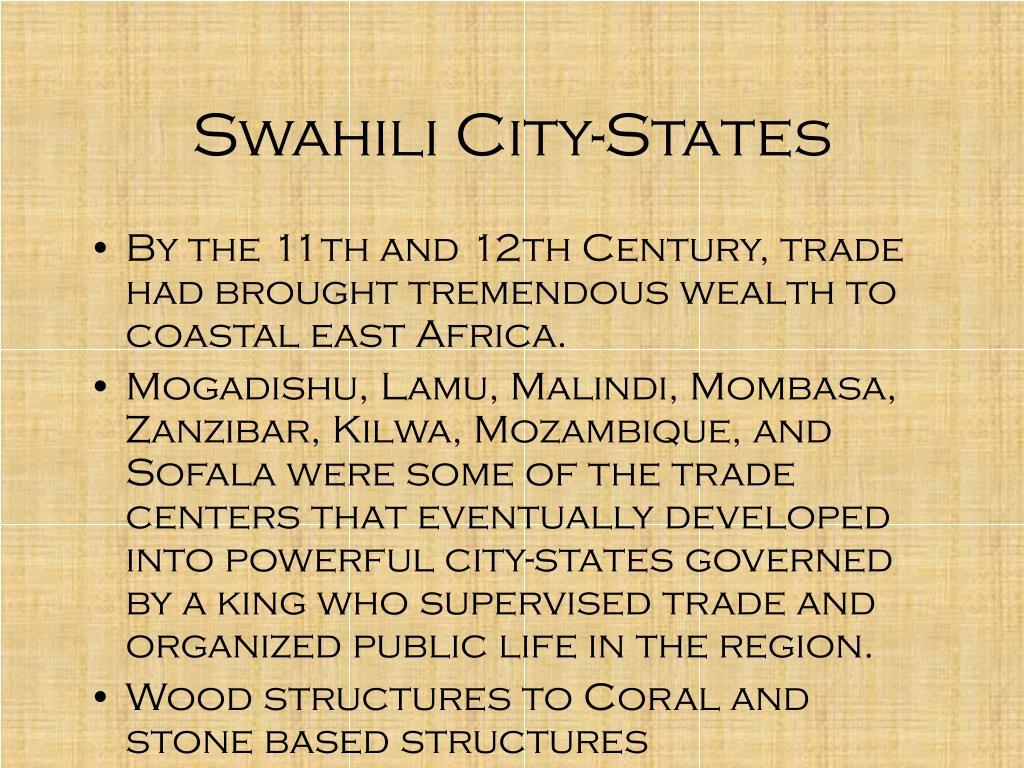 Swahili City-States